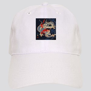 vintage japanese tattoo dragon Cap