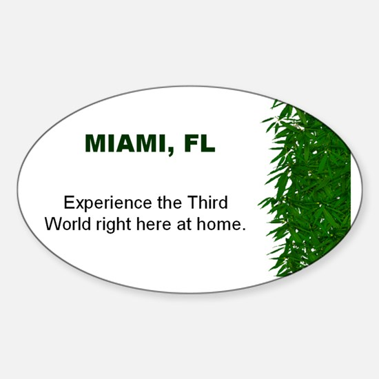 Miami, FL Oval Decal