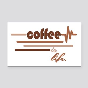 Coffee is Life Rectangle Car Magnet