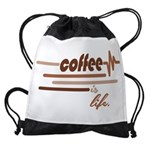 Coffee is Life Drawstring Bag