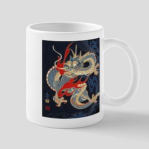 vintage japanese tattoo dragon Mugs