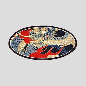 vintage japanese tattoo dragon Patch