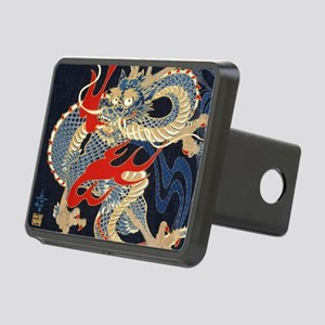 vintage japanese tattoo dr Rectangular Hitch Cover