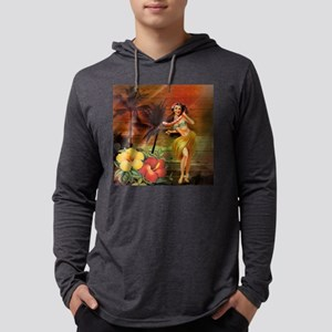 passion flower hawaii hula dan Long Sleeve T-Shirt