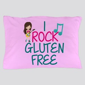 Gluten Free Rock Star Girl Pillow Case