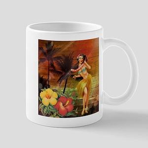 tropical palm tree flower hawaiian Mugs