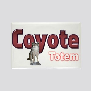 Coyote Rectangle Magnet