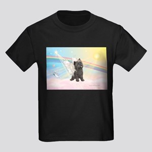 Angel / Cairn Terrier (brin) Kids Dark T-Shirt