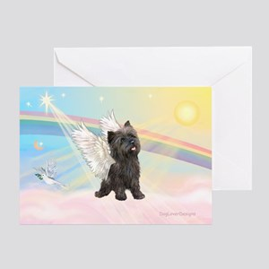 Angel / Cairn Terrier (brin) Greeting Card