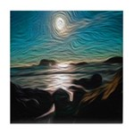 Ocean Coast Mystical Passage Tile Coaster