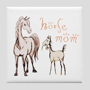 Horse Mom and Foal Tile Coaster