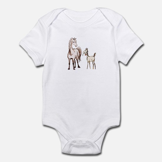 Mare and Foal Horse Infant Bodysuit
