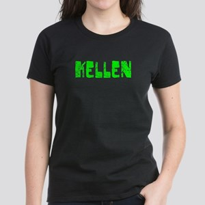 Kellen Faded (Green) Women's Dark T-Shirt