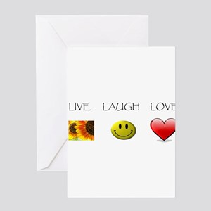 Live Laugh Love Slide Greeting Card