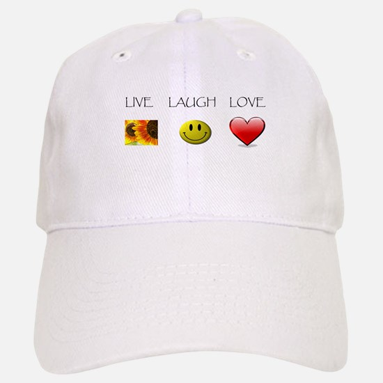 Live Laugh Love Slide Baseball Baseball Cap
