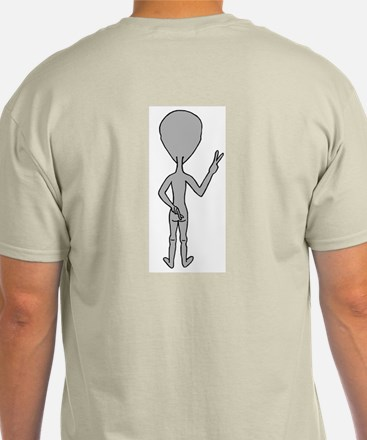 We Come In Peace Alien Ash Grey T-Shirt