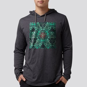 rustic bohemian damask pattern Long Sleeve T-Shirt