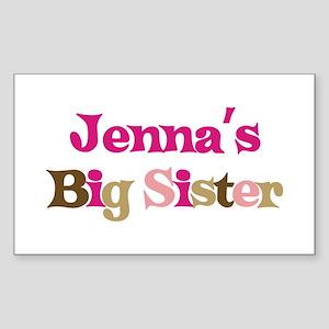 Jenna's Big Sister Rectangle Sticker