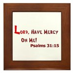 Lord Have Mercy Framed Tile