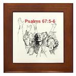 Psalms 67:5-6 Framed Tile