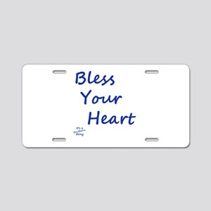 Bless Your Heart Aluminum License Plate