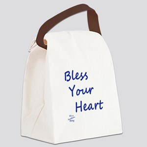 Bless Your Heart Canvas Lunch Bag