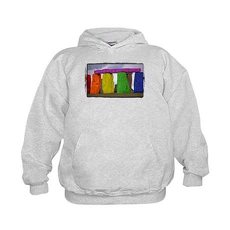 Rainbow Stonehenge Kids Hoodie