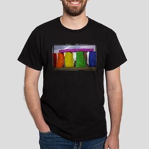 Rainbow Stonehenge Dark T-Shirt