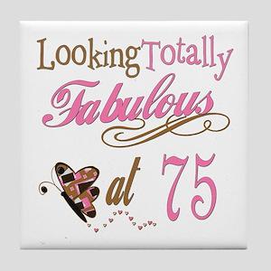 Fabulous 75th Tile Coaster