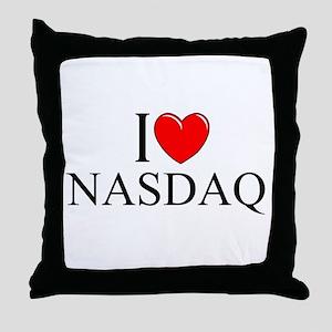 """""""I Love (Heart) NASDAQ"""" Throw Pillow"""
