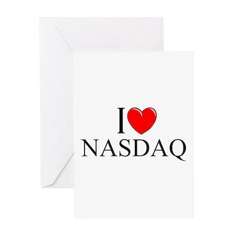 """I Love (Heart) NASDAQ"" Greeting Card"