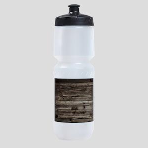 rustic barnwood western country Sports Bottle