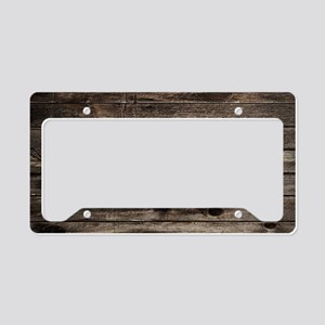 rustic barnwood western count License Plate Holder