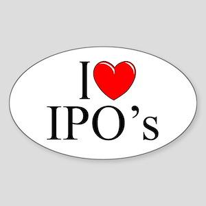 """I Love (Heart) IPO's"" Oval Sticker"