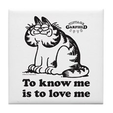 To Know Me Is To Love Me Tile Coaster