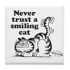 Smiling Cat Tile Coaster