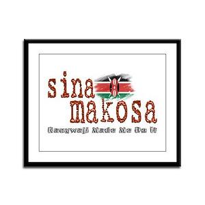 Sina Makosa - Framed Panel Print