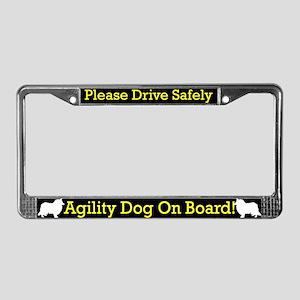 Rough Collie Agility Dog License Plate Frame
