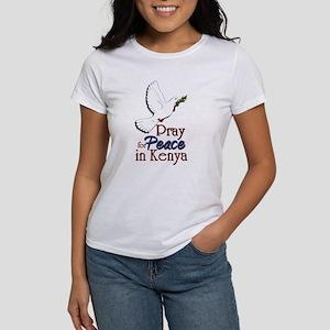 Pray for Peace in kenya - Women's T-Shirt
