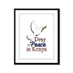 Pray for Peace in kenya - Framed Panel Print
