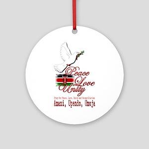 Pray for Kenya - Ornament (Round)