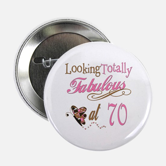 "Fabulous 70th 2.25"" Button"