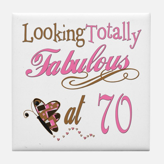 Fabulous 70th Tile Coaster