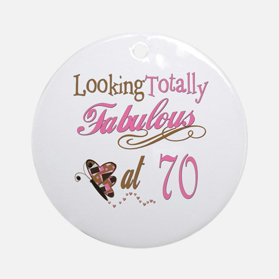 Fabulous 70th Ornament (Round)