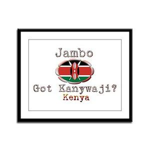 Jambo, Got Kanywaji? - Framed Panel Print