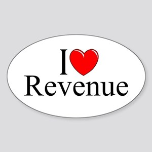 """I Love (Heart) Revenue"" Oval Sticker"