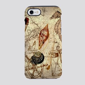 nautical seashells vintage m iPhone 8/7 Tough Case