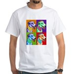 Greyhound dog art White T-Shirt