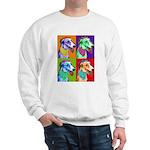 Greyhound dog art Sweatshirt