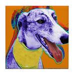 Greyhound dog art Tile Coaster